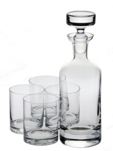 crystal decanter set